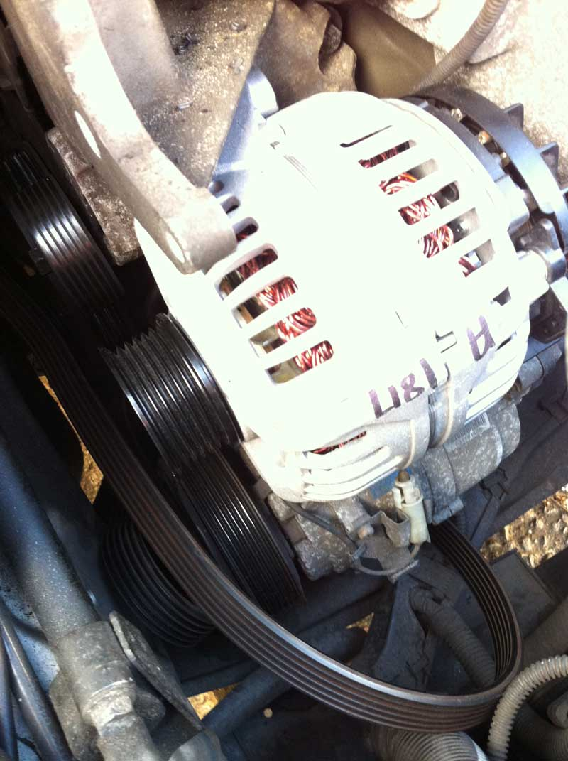 Electrics S80 Alternator Replacement Walk Through Volvo Owners 2001 Battery Location Once You Are Happy With The Position Then Tighten Three Bolts And Aircon Bottom Next Reconnect Electrical Wires Replace